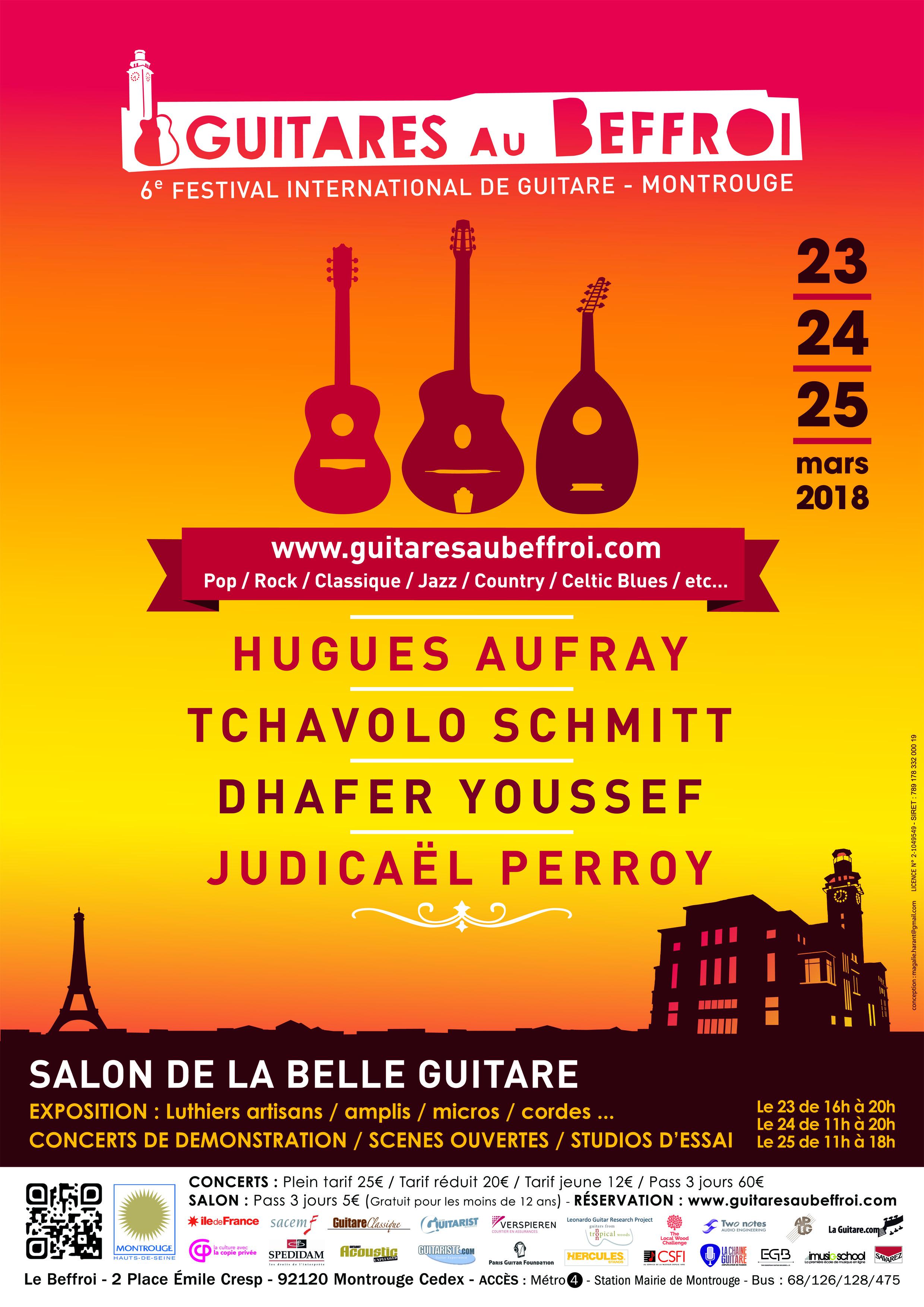 Guitares au Beffroi 2018 - affiche