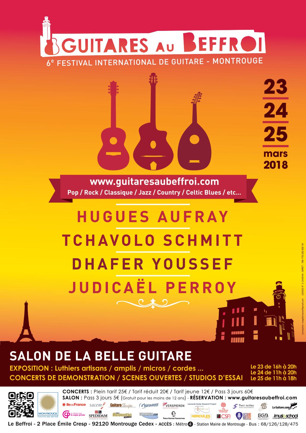 Affiche Guitare au Beffroi 2018