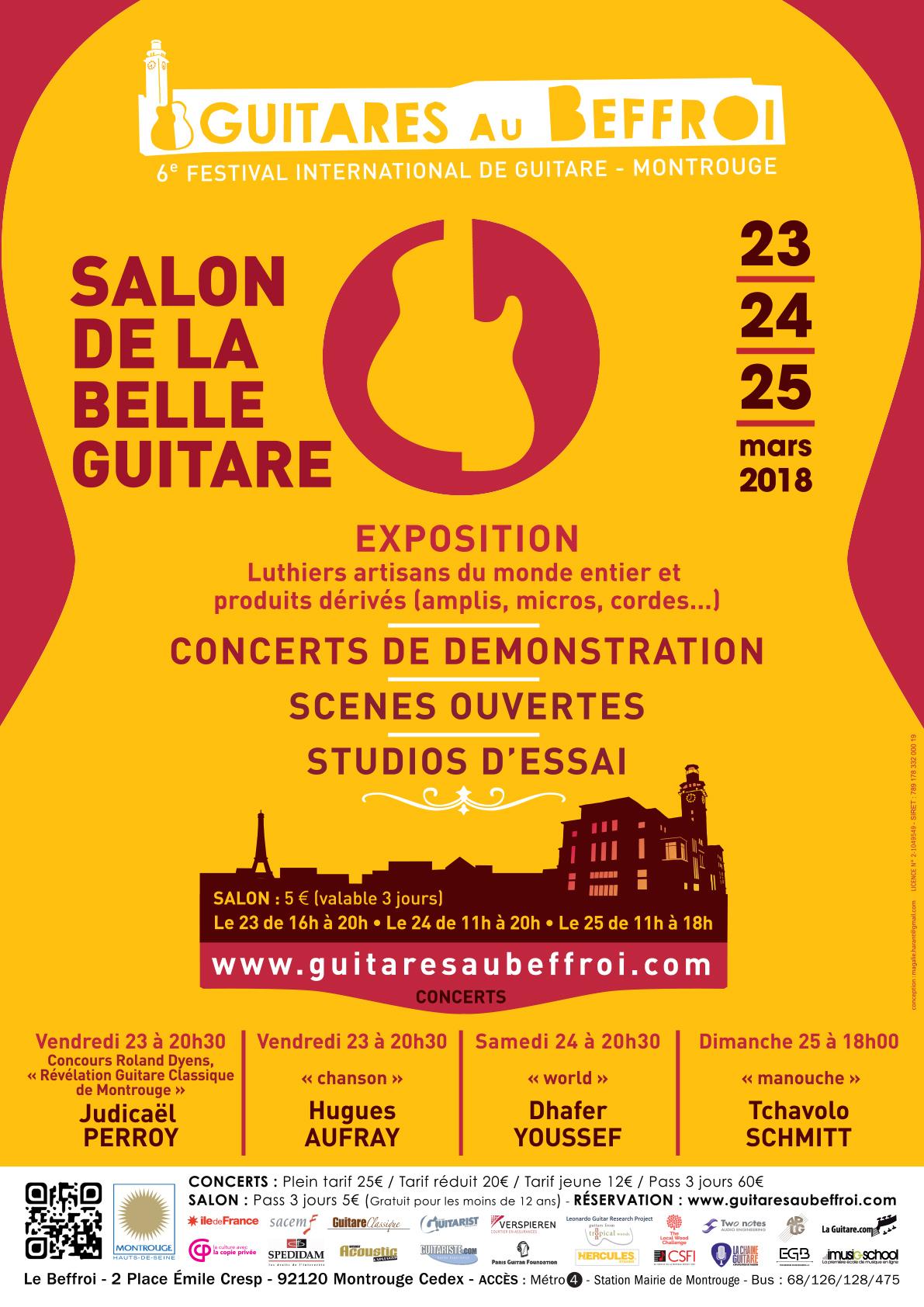 Salon de la Belle Guitare 2018 - affiche